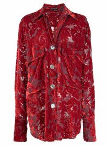 Ann Demeulemeester oversized embroidered shirt