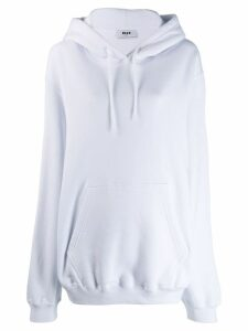 MSGM oversized hooded sweatshirt - White