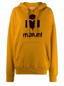 Isabel Marant Étoile logo print oversized hoodie - Yellow