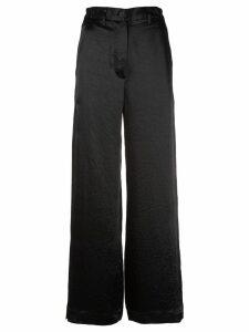 Ann Demeulemeester wide-leg tailored trousers - Black