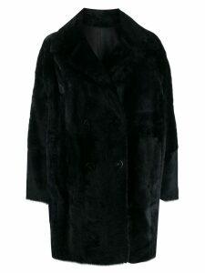Drome reversible textured coat - Blue