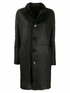Giorgio Brato shearling button coat - Brown