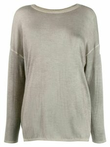 Avant Toi fine knit jumper - Grey