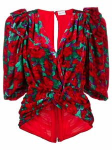 Magda Butrym floral print wrap blouse - Red