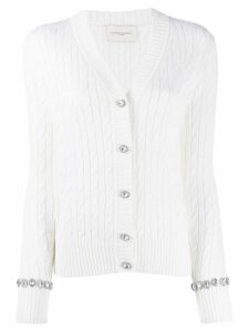 Giuseppe Di Morabito cable-knit cardigan - White