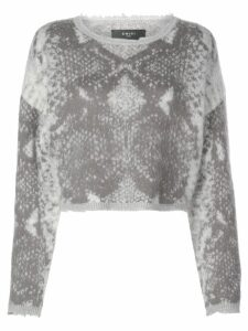 AMIRI Snake cropped crew neck jumper - Grey