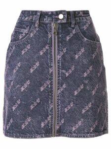 Ground Zero distressed denim skirt - PURPLE