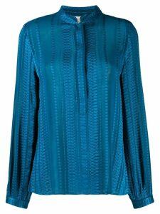 Zeus+Dione hera jacquard shirt - Blue