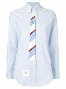 Thom Browne Trompe L'Oeil Bow Tie Oxford Shirt - Blue
