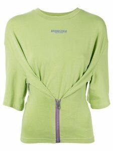 Ground Zero zipped T-shirt - Green