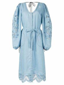 Vita Kin lace-detail midi dress - Blue