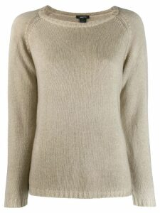 Avant Toi boat neck jumper - NEUTRALS