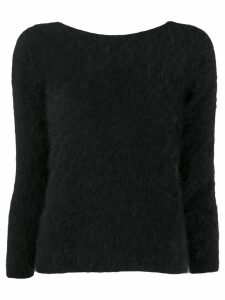 Roberto Collina V-back jumper - Black