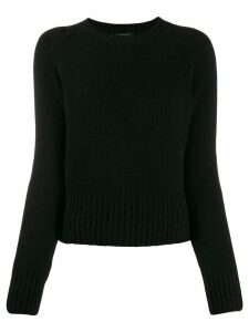 Aragona round neck jumper - Black
