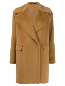 Tagliatore wool single breasted coat - Brown