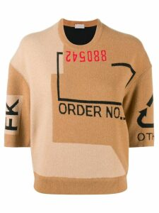 MRZ graphic printed jumper - Brown