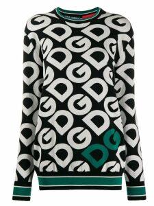 Dolce & Gabbana logo print hoodie - Black