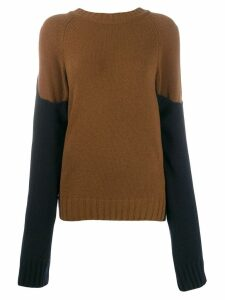 Eudon Choi colourblock knit jumper - Brown
