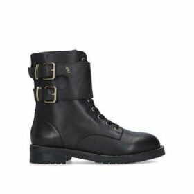Kurt Geiger London Sutton - Black Lace Up Biker Boots