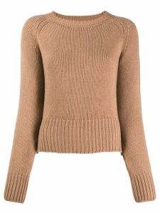 Aragona round neck jumper - Brown