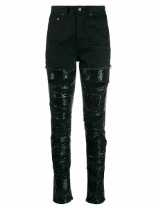 Saint Laurent sequin-embellished ripped jeans - Black