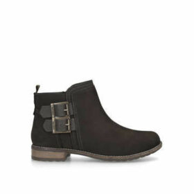 Barbour Sarah Low Buckle Boot - Grey Ankle Boots With Buckle Detail