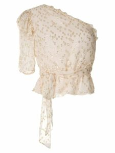 Nk Lurex Nalu silk blouse - White