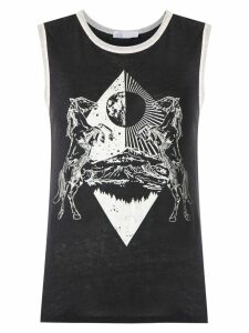 Nk Bruna printed tank - Black