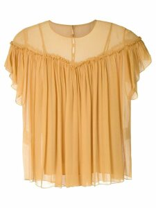 Nk Flow Violeta silk blouse - Yellow