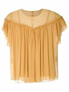 Nk Flow Violeta silk blouse - Yellow