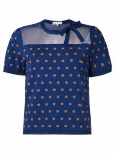 Nk Kim polka dot top - Blue
