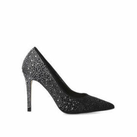 Carvela Lovebird - Black Embellished Stiletto Heel Court Shoes