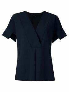 Alcaçuz front pleat Mirante blouse - Blue