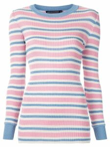 Reinaldo Lourenço striped knit blouse - Multicolour
