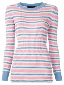 Reinaldo Lourenço striped knit blouse - Multicolour