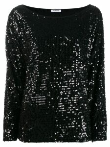 P.A.R.O.S.H. Runway sequin blouse - Black