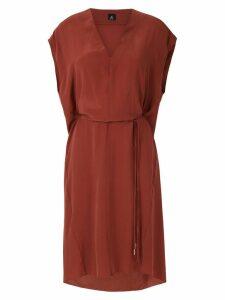 Osklen V neck silk dress - Pink