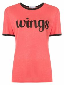 Nk printed linen T-shirt - Red