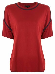 Alcaçuz Natividade panelled T-shirt - Red