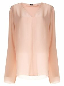 Osklen V neck silk blouse - PINK