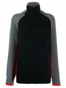 Victoria Victoria Beckham panelled colour block sweater - Black