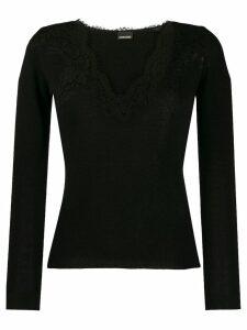 Ermanno Ermanno lace detail jumper - Black