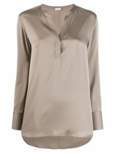 Filippa-K slit detail blouse - NEUTRALS
