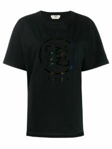 Fendi logo print T-shirt - Black