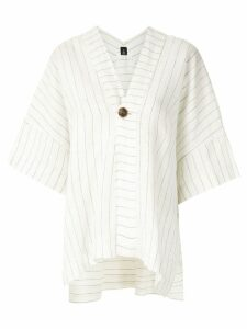 Osklen panelled linen blouse - White