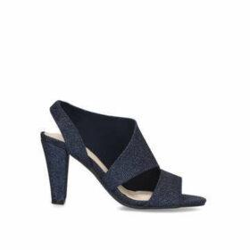 Carvela Comfort Trinity - Navy Block Heel Sandals