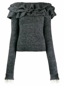 Philosophy Di Lorenzo Serafini ruffle trim jumper - Grey