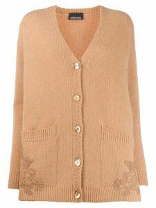 Ermanno Ermanno V-neck cardigan - NEUTRALS