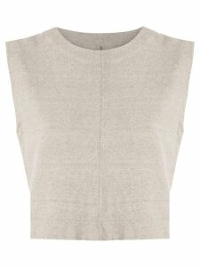 Osklen Rustic Eco cropped top - NEUTRALS