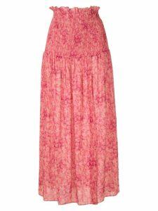 Adriana Degreas floral midi skirt - PINK